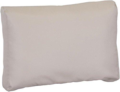 Gartenstuhl-Kissen Premium Lounge Rückenkissen Palettenkissen in beige ca. 70 x 40 cm 100% Polyester wasserabweisend