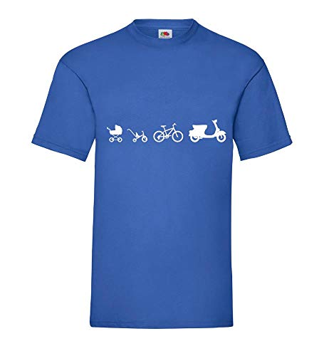 Motorroller Evolution Männer T-Shirt Royal Blau 3XL - shirt84.de