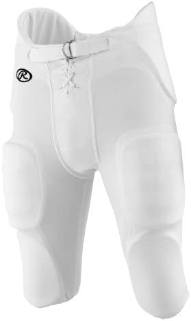 Rawlings F4500P Adult Football Game Pants with Integrated Pads