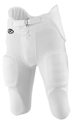 Rawlings Men's F3500P Football Pant (White, Medium)
