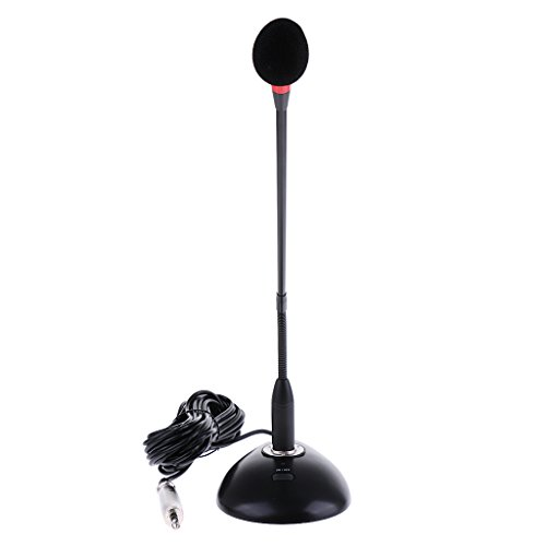 #N/a Micrófono de Condensador de Cuello de Cisne Flexible Profesional Micrófono Permanente de Escritorio