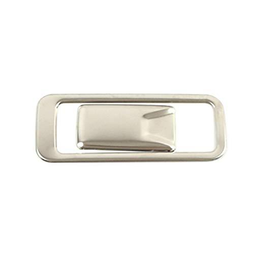 SFUO Fit für Hyundai Creta IX25 2020 GLOVEBOX Handschuh Aufbewahrungsbox Anpassen des Schalters Taster Abdeckung Edelstahl Innenformaufkleber (Color Name : Silver)