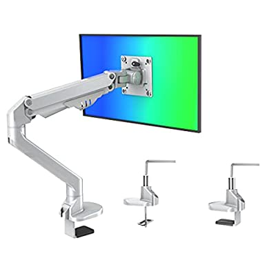 Amazon - 50% Off on  Single Monitor-Mount-Arms, Flexible Gas Spring Adjustable Desk Sliver Mount Arms
