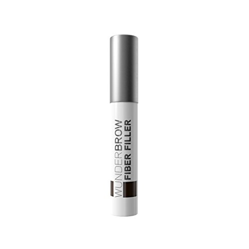 Wunder2 FIBER FILLER Makeup Eyebrow Powder Easy Eye Brow Shaper Long Lasting Transferproof, Black/Brown 0.07 Ounce