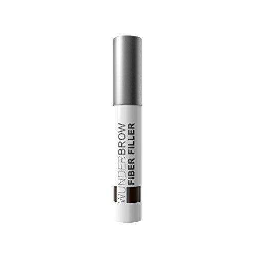 WUNDERBROW FIBER FILLER Long Lasting Eyebrow Powder Makeup for Fuller Healthier Brows, Black/Brown