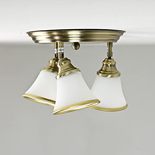 Elegante lámpara de techo en bronce 4xE14 giratoria Art Nouveau lámpara de techo salón dormitorio cuarto de baño
