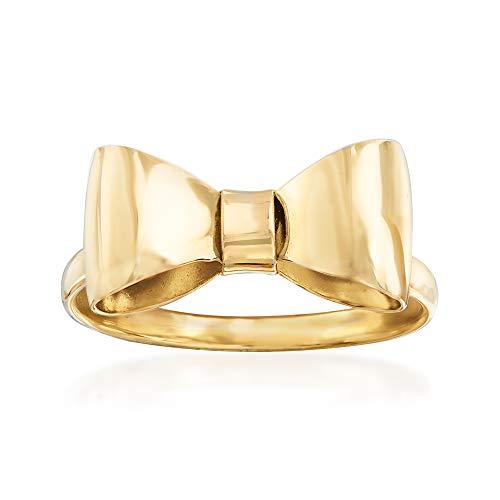 Ross-Simons Italian 14kt Yellow Gold Bow Ring