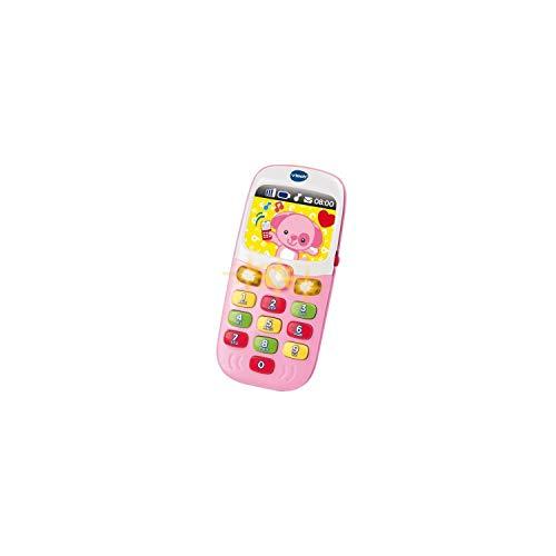 VTech - Baby Smartphone Bilingue Rose, Téléphone Bébé, Jouet d'Éveil - Version FR