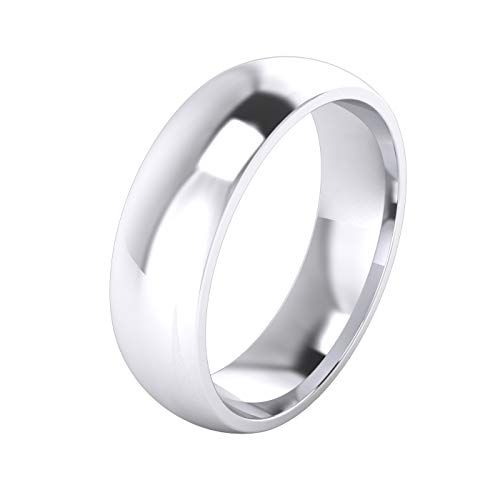 Unisex Sterling Silver 6mm Super Heavy Court Shape Polished Wedding Ring (S)