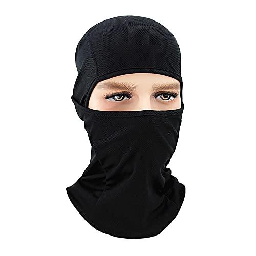 Damaifirstes Headgear - Máscara de ciclismo para hombre, protector solar, capucha delgada para motocicleta, cortavientos y frío, forro de casco a prueba de polvo, 2 unidades, color negro D_23 x 40 cm