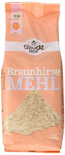 Bauckhof Braunhirsemehl, 6er Pack (6 x 425 g Tüte) - Bio