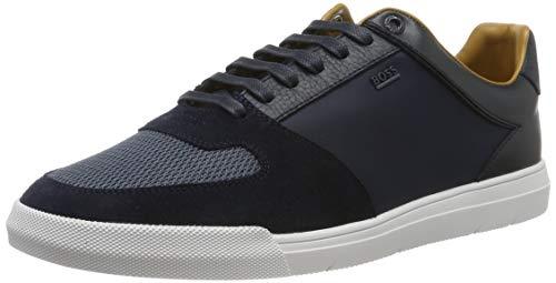 BOSS Herren Cosmo_Tenn_mx Sneaker, Blau (Dark Blue 401), 39 EU
