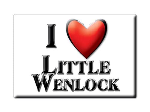 Enjoymagnets Little Wenlock (Eng) Souvenir IMANES DE Nevera Inglaterra England IMAN Fridge Magnet Corazon I Love