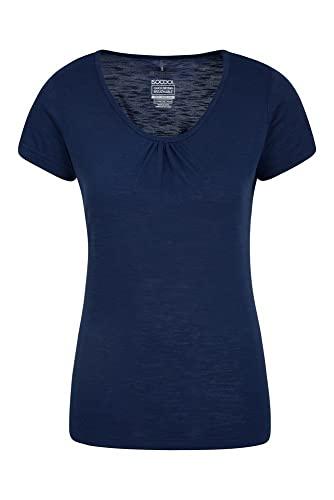Mountain Warehouse Agra Camiseta para Mujer - Ligera, Secado rápido, de Verano Transpirable, Absorbente, para Deportes al Aire Libre, Senderismo y Uso Informal Azul Marino 44