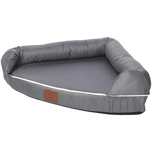 Bunty Cosy Corner Couch Dog Pet Bed Washable Soft Foam Mattress Basket Sofa Pad Mat - Grey - Large