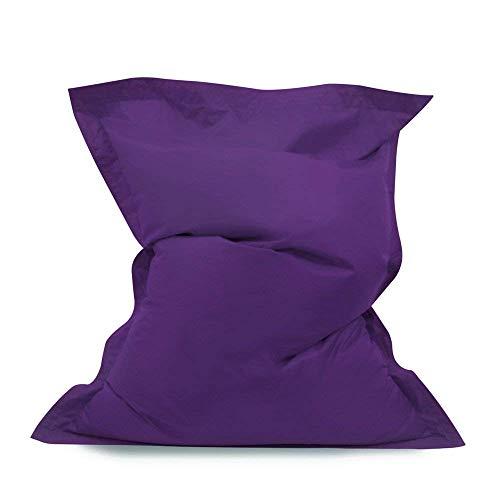 Sitzsack Bazaar Riesiges Sitzsack Bodenkissen lila XL gewebter Stoff wasserabweisend abwischbar Indoor Outdoor Sitzsack PU