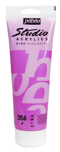 PEBEO Studio Acrylic Acrylfarbe, 250ml, Irisierendes Violett Blau