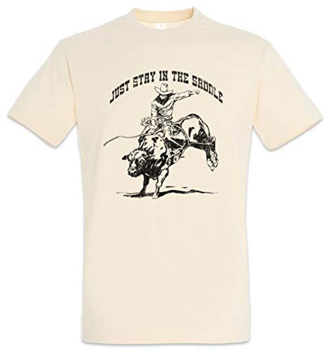 Just Stay IN The Saddle T-Shirt - Selle rodéo Cheval Sella cavaliere Cavallo andareaCavallo MontaraCaballo cabalgar Practicarequitación Caballo Tamaños S – 2XL