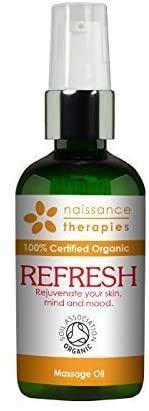 Naissance REFRESH erfrischendes Massageöl BIO zertifiziert 100ml mit Argan, Jojoba und Zypresse