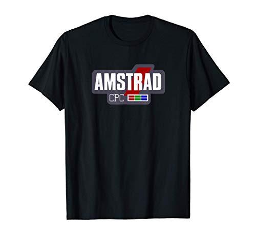 Amstrad CPC Retro Ordenadores Vintage (logo blanco) Camiseta