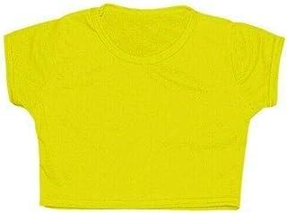 Rimi Hanger Girls Microfiber Crop Top Tees Children Cap Sleeve Gymnastics Short T Shirt
