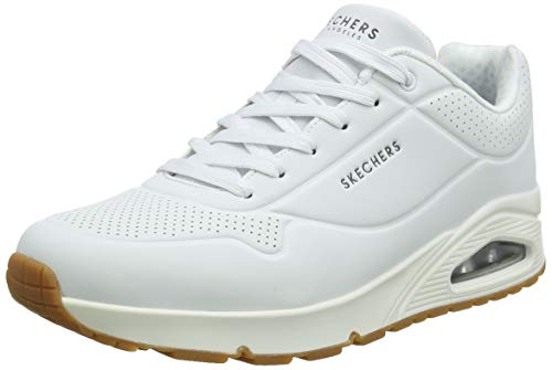 Skechers Uno- Stand On Air, Zapatillas Hombre, Multicolor (Wht Black Durabuck/Trim), 46 EU