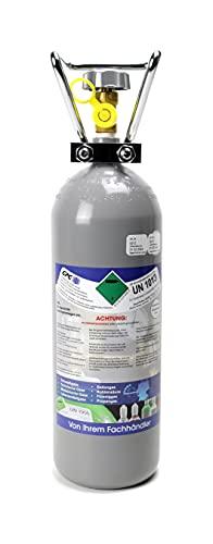 2 kg Kohlensäure Flasche für Aquarium / 2 kg CO2 Flasche/Gasflasche gefüllt mit Kohlensäure (CO2) / Lebensmittelqualität nach E290 / NEUE Eigentumsflasche / 10 Jahre TÜV ab Herstelldatum/Globalimport