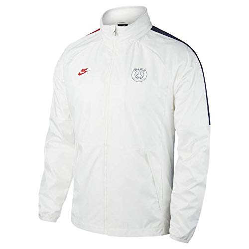 Nike Herren PSG M NK AWF LTE JKT Sport Jacket, White/White/Midnight Navy/(University red) (no Sponsor-Cl), L