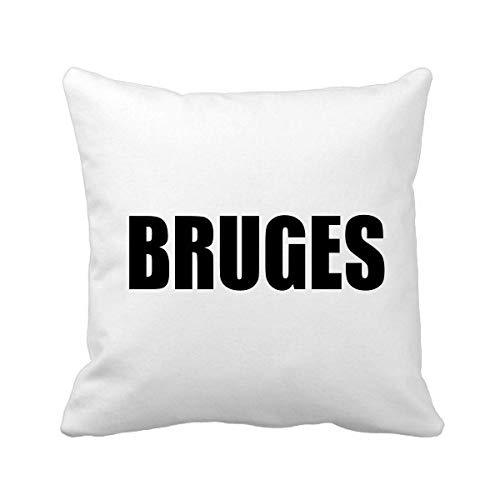 DIYthinker Brugge België Stad Naam Plein Gooi Kussen Invoegen Kussen Cover Thuis Bank Decor Gift