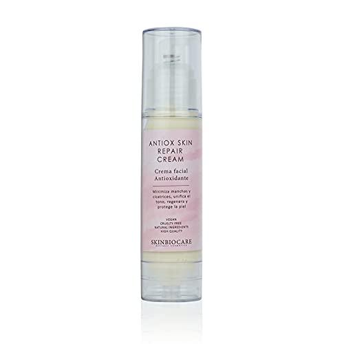 Crema Facial Antioxidante con Rosa Mosqueta que reducirá marcas y manchas debidas al acné o al sol. 50ml- SkinBioCare