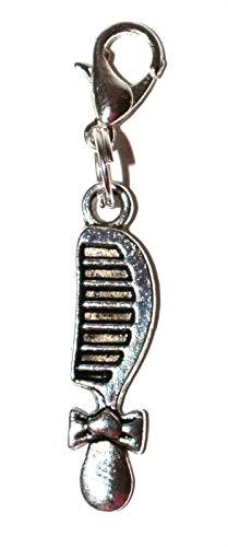 Royal Swan Tibetisches Silber Babykamm Anhänger zum Anklipsen, Schlüsselanhänger, inkl. Organza-Geschenkbeutel