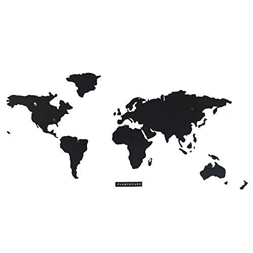 Flamingueo Mapa Mundi Magnetico - Mapa Mundi Metal Pared con Imanes para Fotos,...