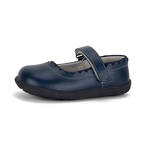 See Kai Run, Jane II Mary Jane Shoes for Kids, Navy, 5