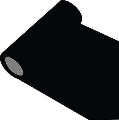INDIGOS Oracal 651 Orafol glänzend, für Küchenschränke und Dekoration, Autobeschriftung, Schutzfolie Folie 5 m, Breite 63 cm, Farbe 70, schwarz, ORACAL651-1-5mx63-70