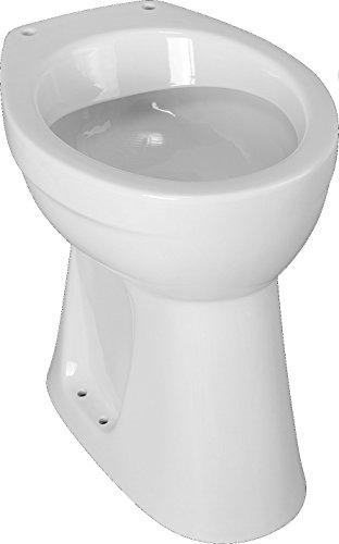 """Cornat Erhöhtes Komfort Flachspül-WC, """"Clean plus"""" Beschichtung, Höhe 45,5cm, weiß"""