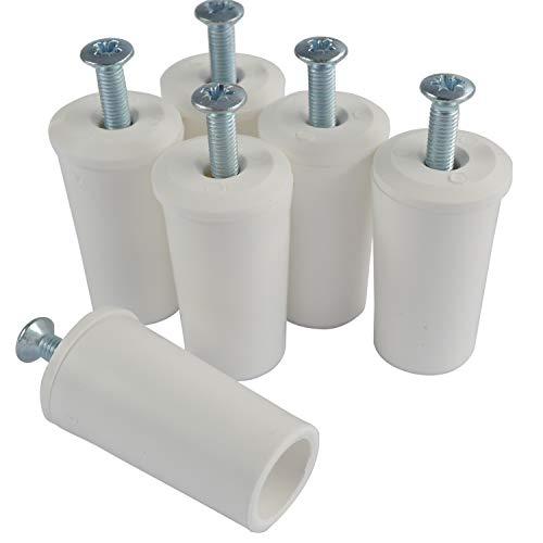 Rollladenstopper Anschlagstopper Rolladen, Weiß offen, 6 Stück (3 Paar)