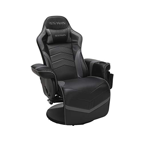 """RESPAWN RSP-900 Racing Style, Reclining Gaming Chair, 35.04"""" - 51.18"""" D x 30.71"""" W x 37.01"""" - 44.88"""" H, Gray"""