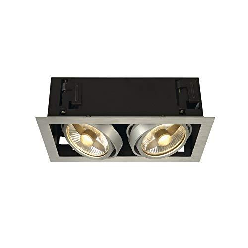 SLV Deckeneinbauleuchte KADUX 2 / Spot, Fluter, Deckenstrahler, Deckenleuchte, Einbau-Leuchte LED, Innen-Beleuchtung / GU10 75.0W aluminium