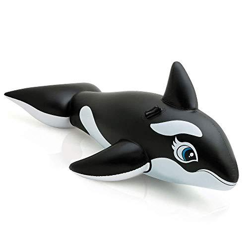 Intex Aufblasbarer Wal für Kinder 1,93m Schwimmbad Swimmingpool Spaß Zubehör