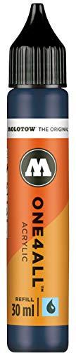 Molotow ONE4ALL Recharge d'encre acrylique pour marqueurs permanents 30 ml Couleur 027 Bleu pétrole