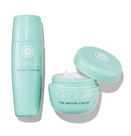 TATCHA Routine Refresher Travel Set: atcha The Deep Cleanse Exfoliating Cleanser + Tatcha The Water Cream