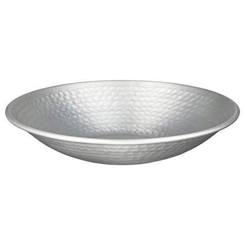 My- Stylo Collection Dekorative Schale, silberfarben, Maße: Höhe: 5 cm, Durchmesser: 27 cm, Material: Aluminium,...