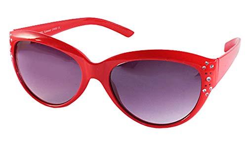 Chic-Net UV teinté Lunettes de Soleil Strass Dames Concepteur Lunettes Noires 400 Rouge