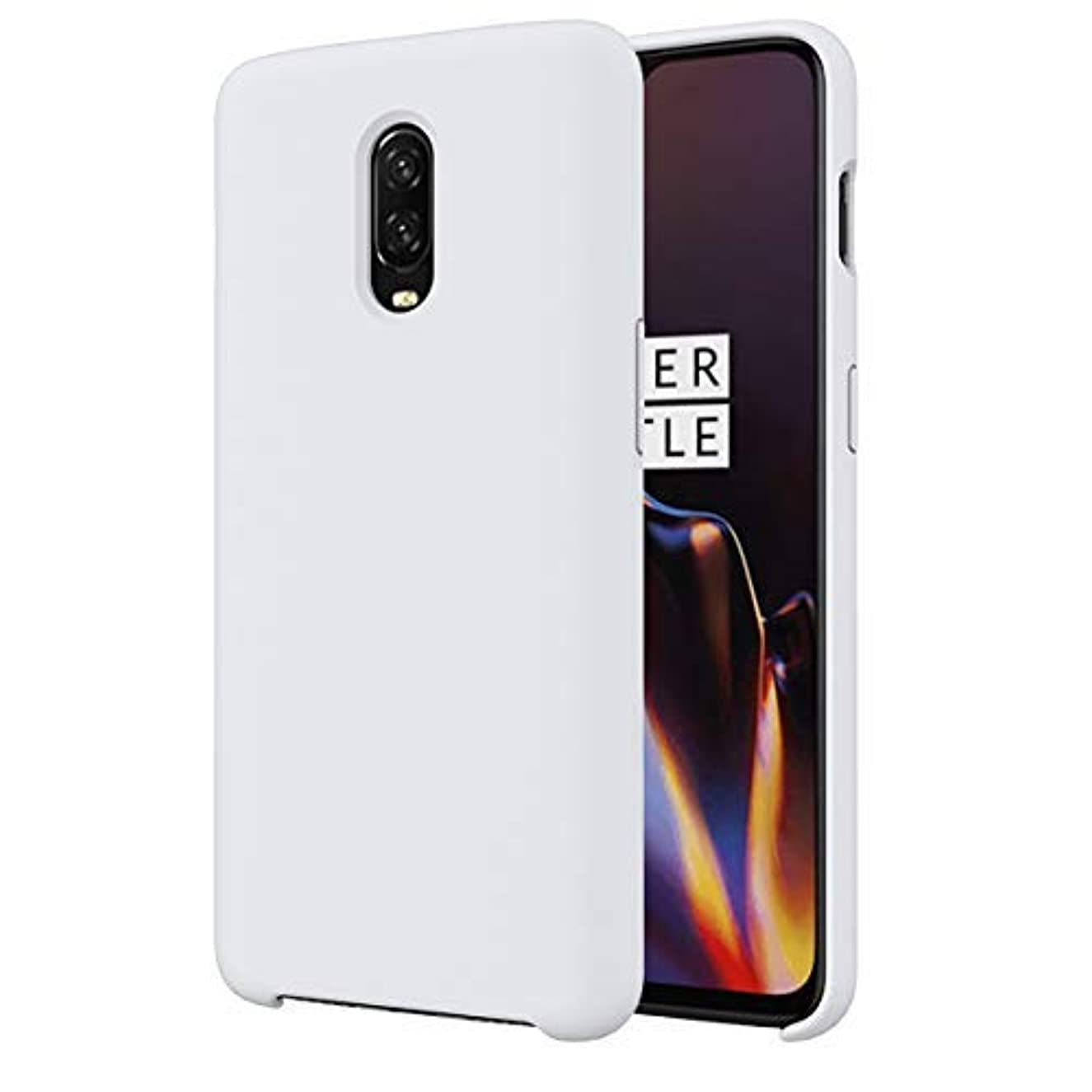 Case Compatible with OnePlus 6 Soft TPU Shockproof Damping OnePlus Six OnePlus 6T 1+6T Cover (White, OnePlus 6T)