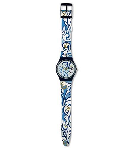 Uhr Swatch Jahr 1991GN128Quarz (Batterie) Kunststoff Quandrante Multicolor Armband PVC