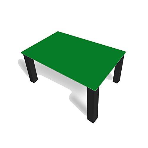 DekoGlas FMK-42-068 Table Basse en Verre Unie Vert 45 cm de Haut avec Plateau en Verre 80 x 80 cm 100 x 100 cm 90 x 55 cm 112 x 67 cm 120 x 75 cm