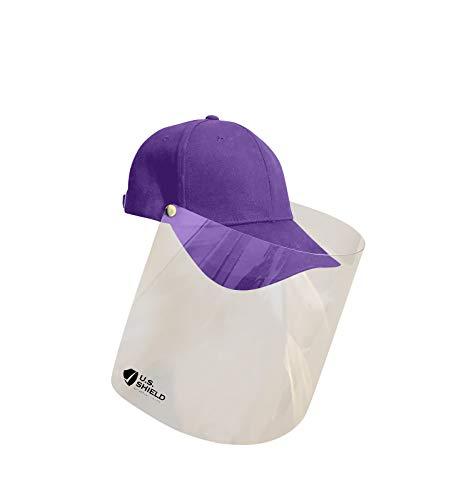 U.S. Shield Cap (Purple) Baseball Cap with removable Shield.
