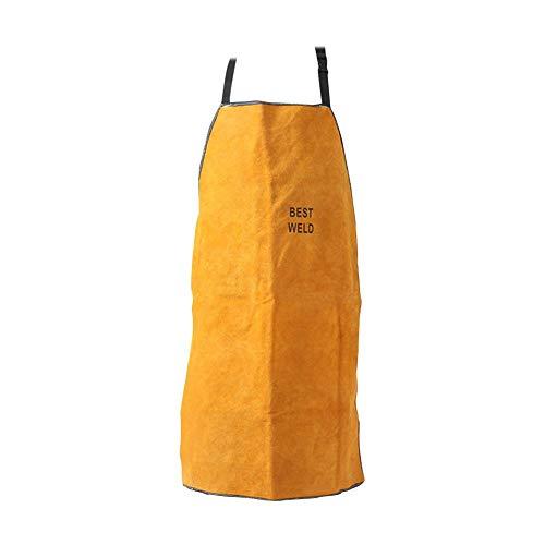 SNIIA lasschort van rundleer vlamvertragend hittebestendig werkkleding beschermende kleding vooraan verstelbare band in de hals bij het lassen