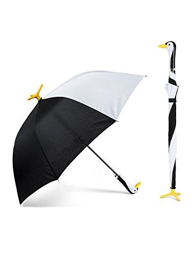 Abbott Collection 27 UMB Regenschirm mit Pinguin-Motiv, 40 W, 101,6 cm, Schwarz und Weiß