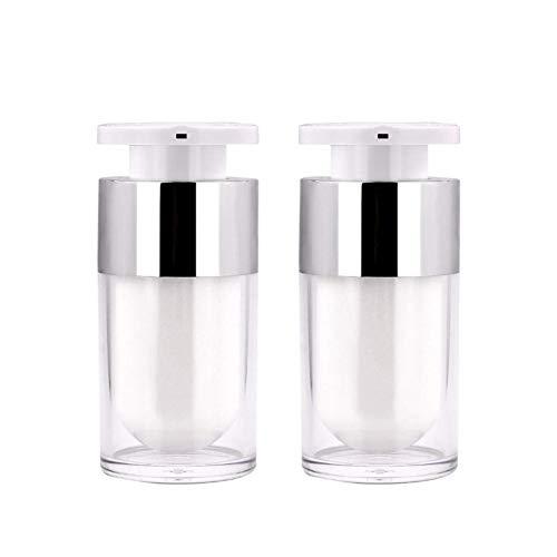 Phononey 2X Remplissage des Bouteilles Bouteille de Lotion Plastique Bouteilles Transparent pour Maquillage et Soins de la Peau Voyage 15ml